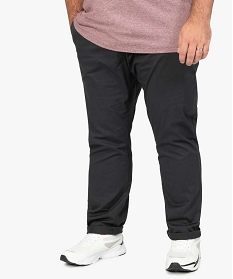 GEMO Pantalon homme chino en stretch coupe straignt Gris