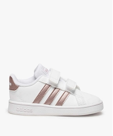 GEMO Baskets fille à scratch Grand Court Adidas Blanc
