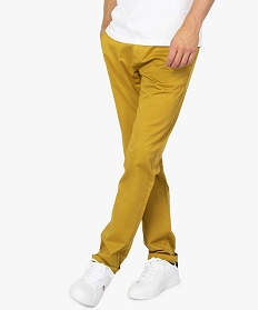 GEMO Pantalon homme chino coupe straight Orange