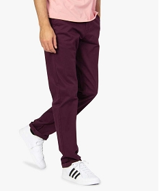 GEMO Pantalon chino homme coupe regular Rouge