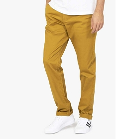 GEMO Pantalon chino homme coupe regular Orange