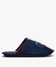 GEMO Chaussons homme mules en velours Paris Saint Germain Bleu