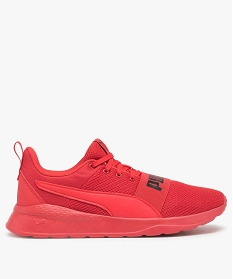 GEMO Baskets homme unies en mesh - Puma Wired Rouge