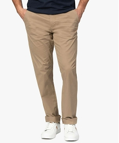 GEMO Pantalon chino homme coupe regular Beige