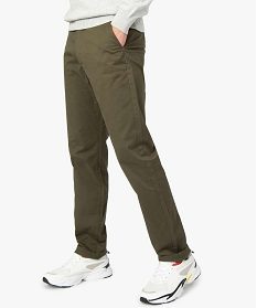 GEMO Pantalon chino homme coupe regular Vert