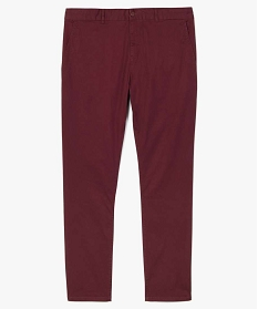 GEMO Pantalon homme chino en stretch coupe straignt Rouge