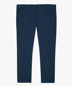 GEMO Pantalon homme chino en stretch coupe straignt Bleu