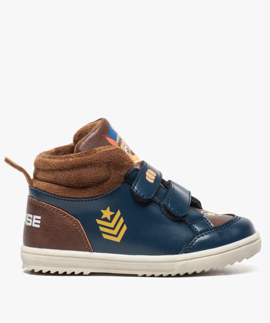 Gemo Chaussures Baskets Garcon Semi Montantes A Col Velours Pat Patrouille Bleu Garcon Gémo