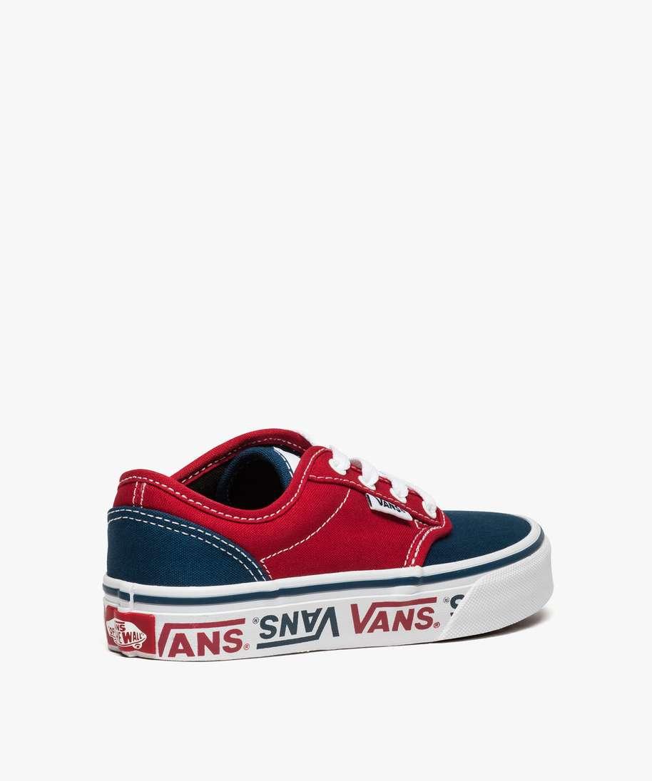 baskets garcon en toile bicolore et a lacets - vans atwood bleu