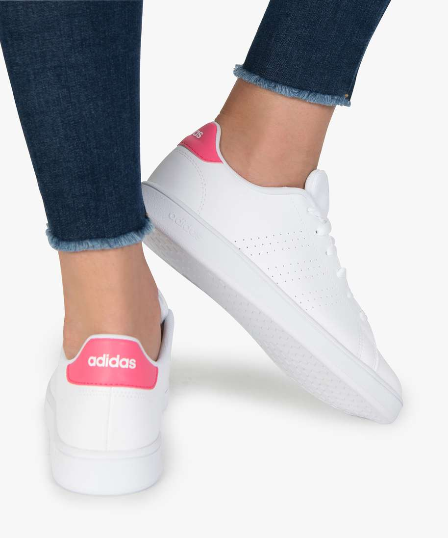 Gemo chaussures baskets femme a lacets - adidas advantage k blanc ...