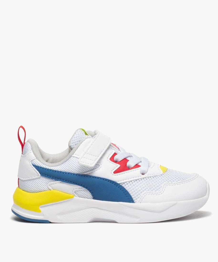 baskets garcon colorees a scratch - puma blanc